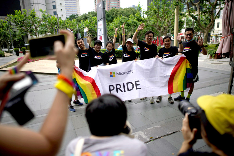 Image: FILE PHOTO: Participants take part in a Pride Run during the Shanghai Pride festival, in Shanghai