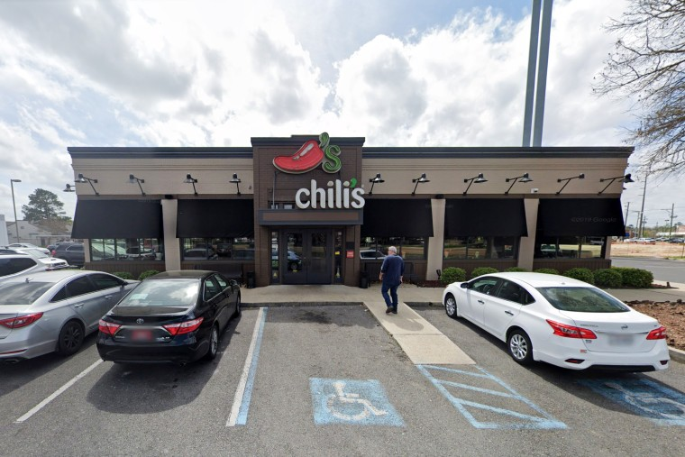 The Chili's restaurant in Baton Rouge, La., where a 17-year-old hostess was allegedly attacked on Aug. 9, 2020 after she attempted to enforce the business' COVID-19 social distancing policies.