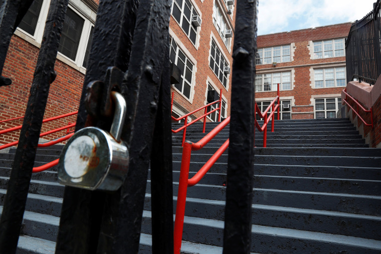 Image: The East Side Community High School is seen closed in New York City