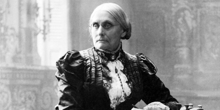 Suffragist Susan B. Anthony.