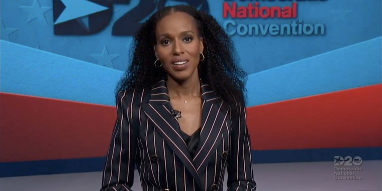 Kerry Washington hosted the third night of the virtual 2020 Democratic National Convention.