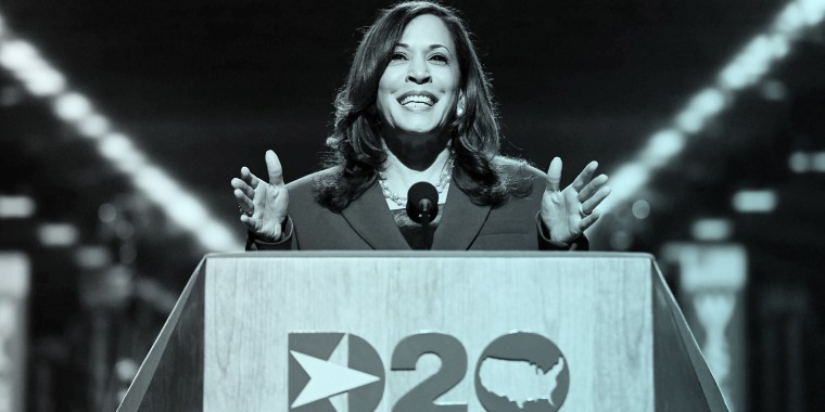Kamala Harris during the third day of the Democratic National Convention at the Chase Center in Wilmington, Delaware, on Aug. 19, 2020.