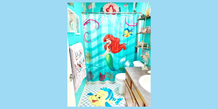 "This bathroom in Kelsey Hermanson's home is inspired by her favorite Disney character: Ariel from ""The Little Mermaid."""
