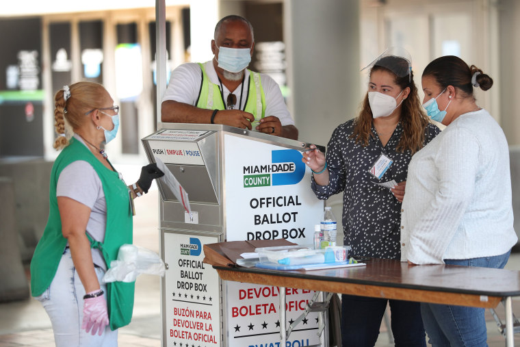 Image: Florida Voters Use Designated Drop Boxes To Submit Ballots