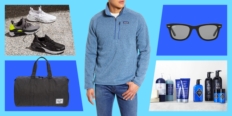 Sneakers, sunglasses, skincare products, man in sweater, and travel. Shop deals and discounts on men's clothing and shoes from Patagonia, Nike, Adidas and more.