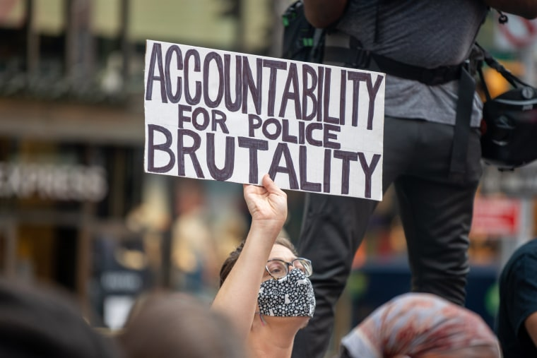 Image: Black Lives Matter Protests Continue With March For Breonna Taylor Through Midtown Manhattan