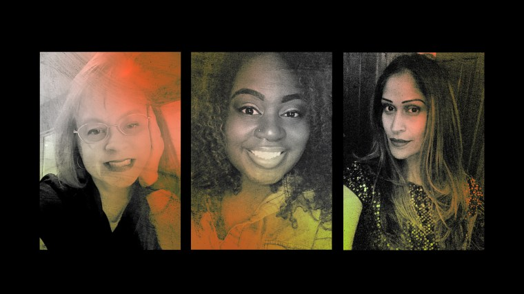 Image: Patti Kirk-Byrne, Dashauna Ballard and Sadie Nagamootoo were all diagnosed with COVID-19.