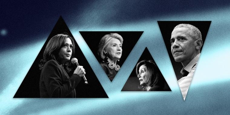 Kamala Harris, Hillary Clinton, Nancy Pelosi and Barack Obama will speak on the third night of the Democratic National Convention.