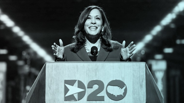 Kamala Harris during the third night of the Democratic National Convention at the Chase Center in Wilmington, Del., on Wednesday.