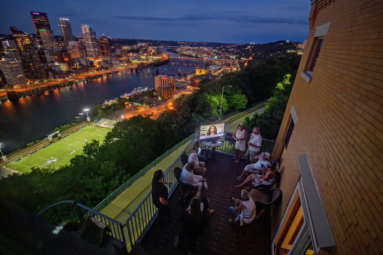Image: BESTPIX - Pittsburgh Area Democrats Gather To Watch The Second Night Of The Democratic National Convention