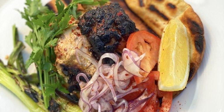 Yogurt and Spice Marinated Chicken D?ner Kebabs