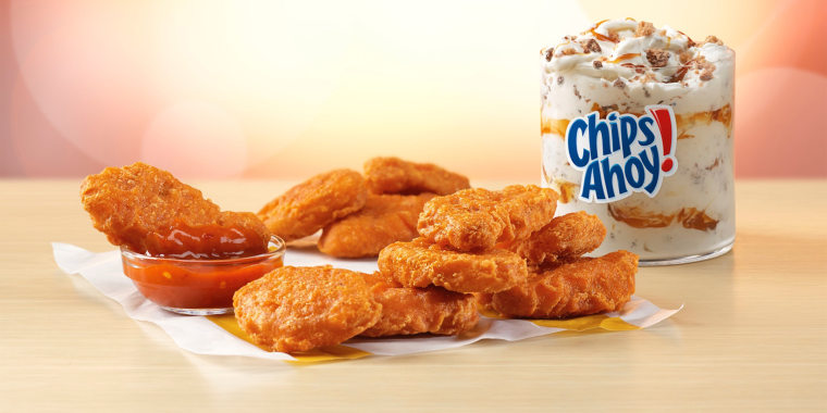 McDonald's introduced Spicy Chicken McNuggets, Mighty Hot Sauce and the Chips Ahoy! McFlurry last month.