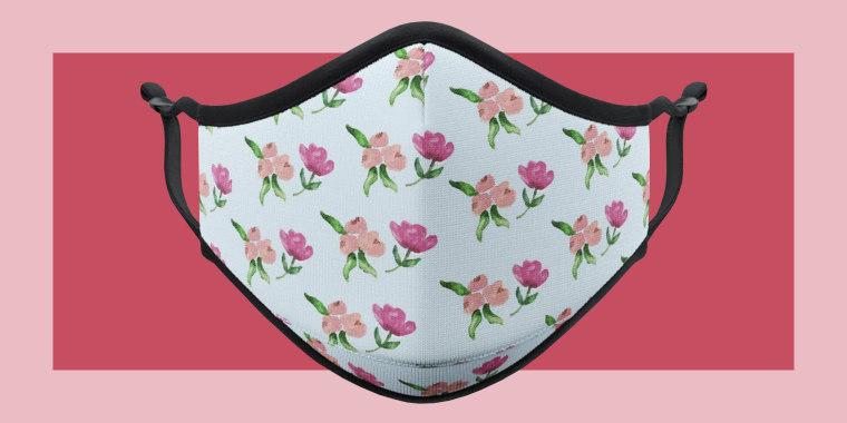 Vistaprint floral face mask
