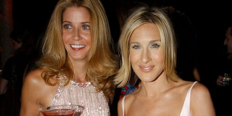 Candace Bushnell and Sarah Jessica Parker