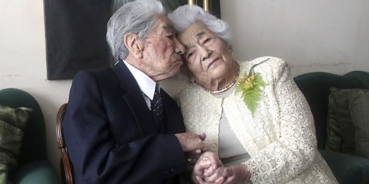 Julio Mora Tapia, 110, and Waldramina Quinteros