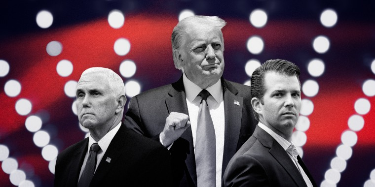 Image: Vice President Mike Pence, President Donald Trump and Donald Trump Jr.
