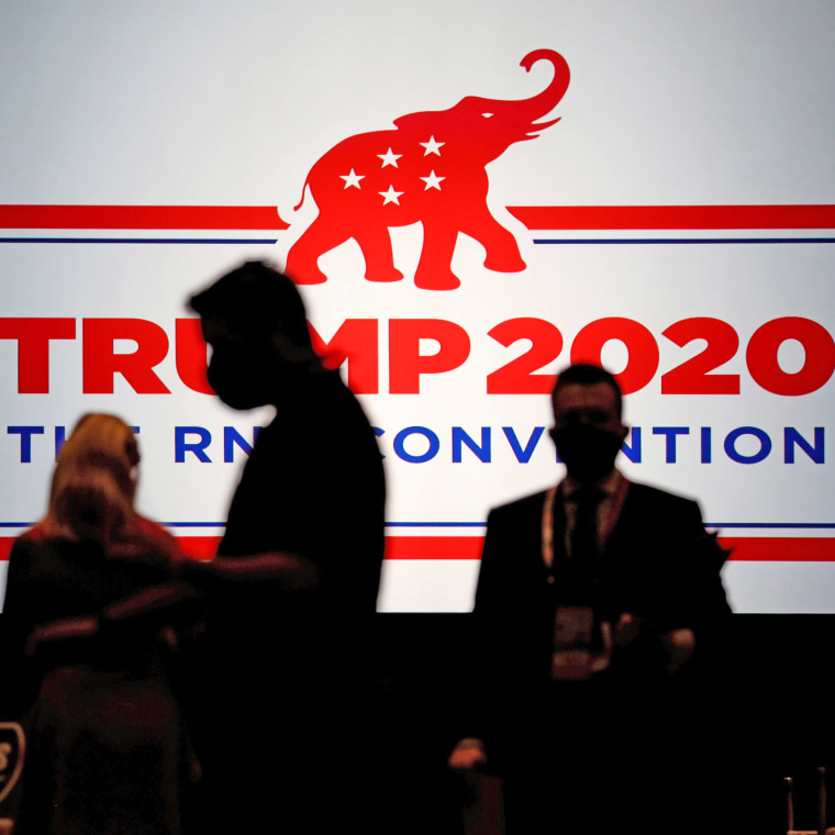 Image: The Charlotte Convention Center is set for delegates, in Charlotte
