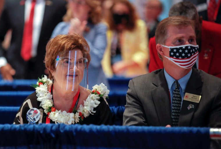 Image: U.S. President Donald Trump makes an appearance at the Republican National Convention in Charlotte
