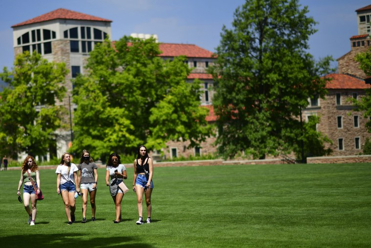 Image: Colorado University Students Return To Campus For Fall Semester