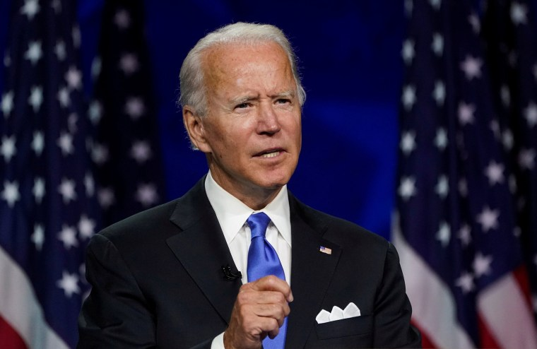 Image: Joe Biden accepts the 2020 Democratic presidential nomination during a speech delivered for the largely virtual 2020 Democratic National Convention