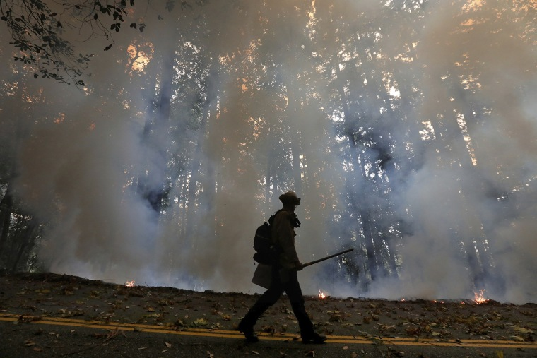 Image: California Department of Forestry and Fire Protection firefighter