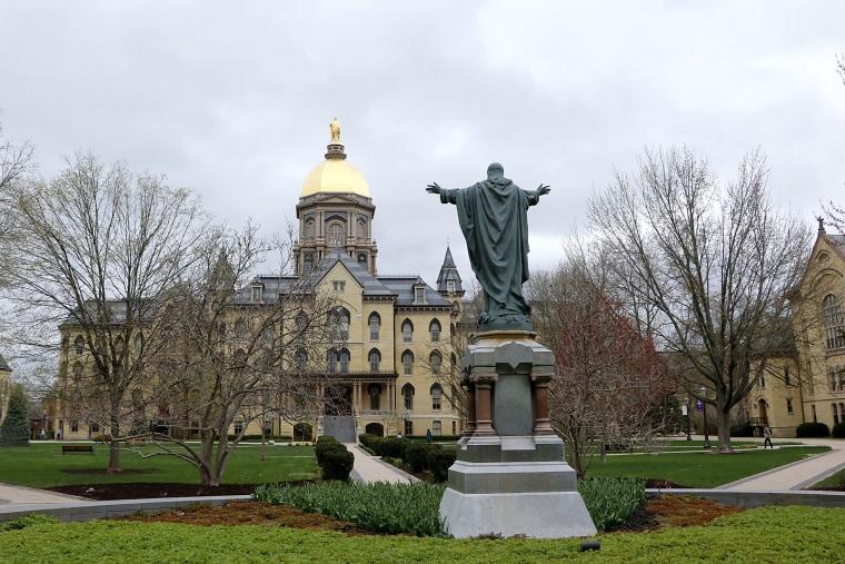 Campus scene University of Notre Dame