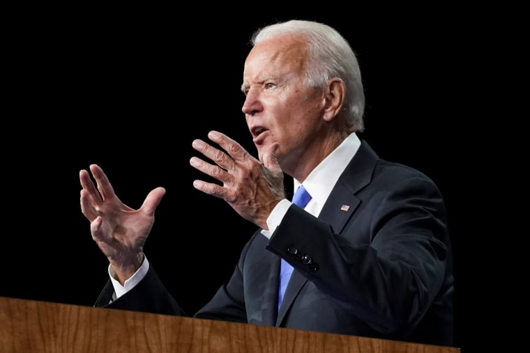 Image: Former U.S. Vice President Joe Biden accepts the 2020 Democratic presidential nomination