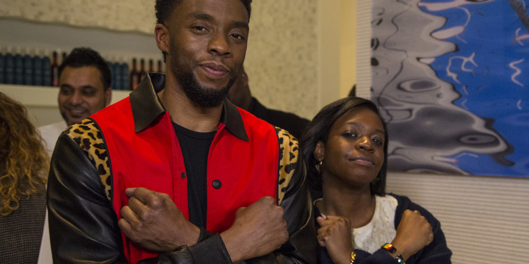 "TODAY producer Megan Wheeler and Chadwick Boseman. Wheeler had a memorable meeting with the ""Black Panther"" star when the actor sat down with Willie Geist for Sunday TODAY in 2018."