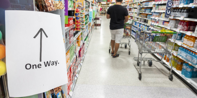 Miami Beach, Publix grocery store, One Way sign, shoppers only going one direction