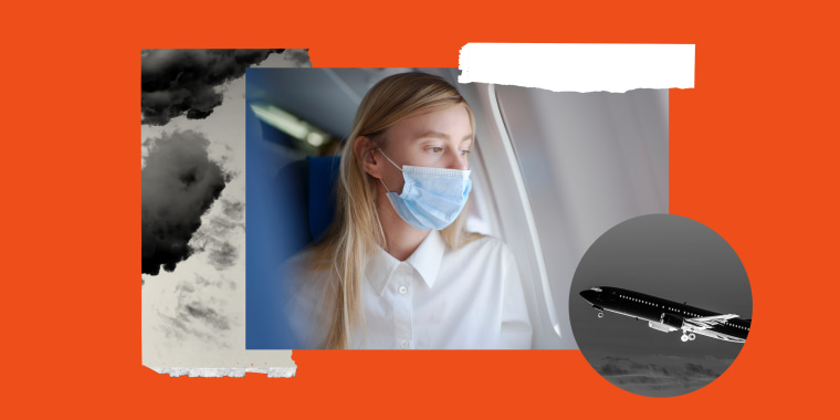 COLLAGE OF FLYING AND COVID-19 RISK