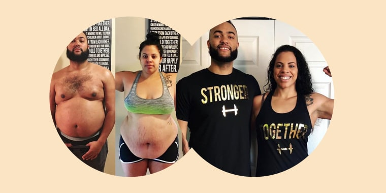 "They both wanted to lose weight and get healthier. ""We decided we were going to be one of those couples. We made a New Year's resolution,"" Jasmine Parent said. She and her husband, Jeremy, kicked off their plan on January 1, 2018."