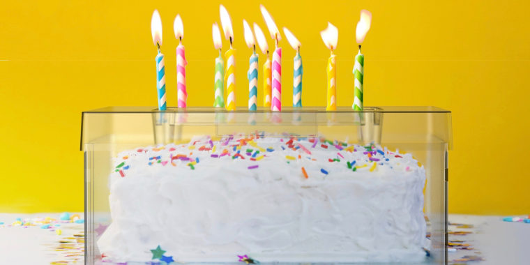 The Top It Cake Shield aims to protect confections from germs when people blow out candles.