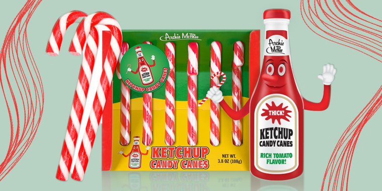 Ketchup candy canes to make your holiday wishes come true.