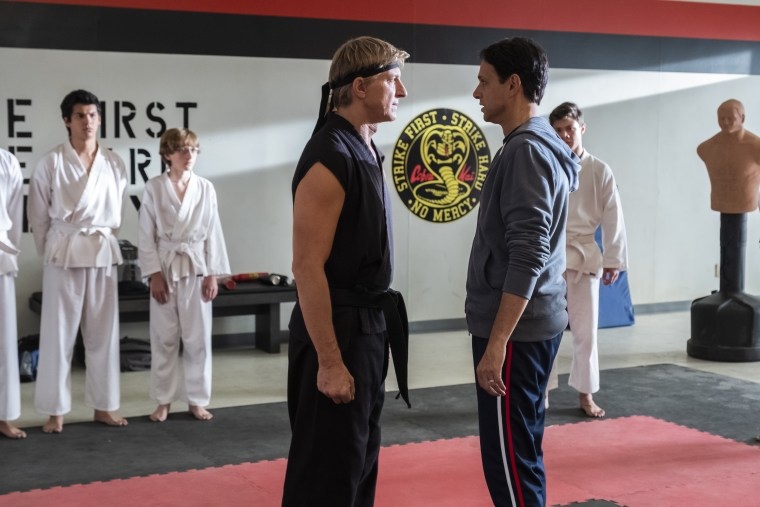 "Johnny and Daniel reignite their rivalry in ""Cobra Kai."""