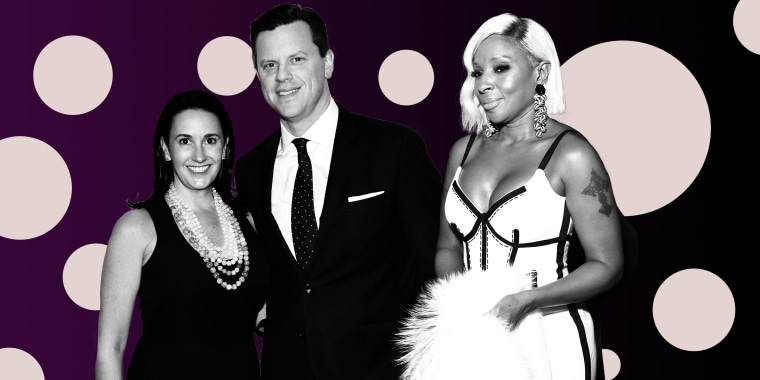 From left to right, Christina Sharkey Geist, Willie Geist and Mary J. Blige