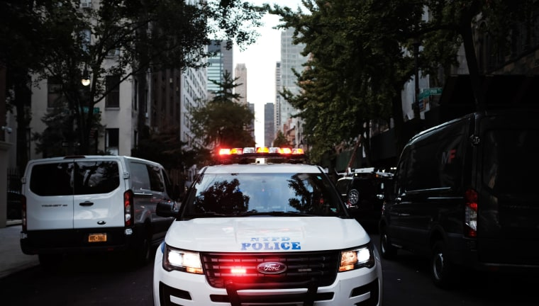 Police respond to a call in New York City.