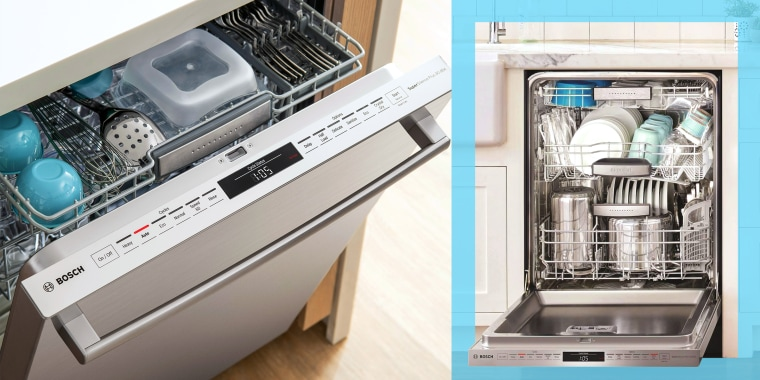 Bosch dishwasher full of clean dishes in kitchen. Want to upgrade your dishwasher? Here are some basic features and high-end upgrades to consider. See dishwasher models from Bosch, Whirlpool, IKEA and more?.