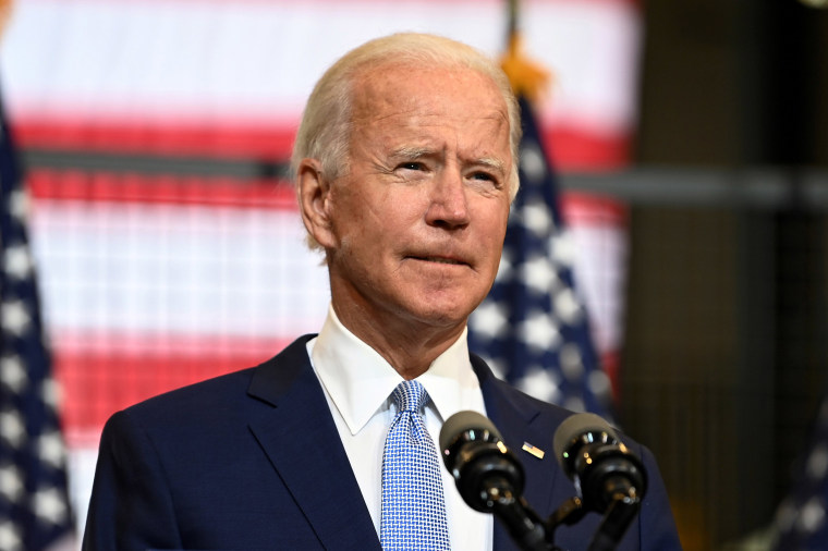 Image: Democratic presidential nominee and former Vice President Joe Biden speaks about safety in America during a campaign appearance in Pittsburgh