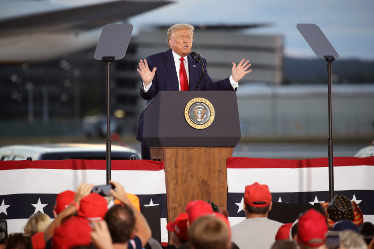 Image: President Trump Holds Campaign Rally In New Hampshire