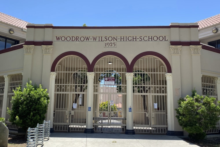 Image: Woodrow Wilson High School, June 27, 2020, in Long Beach, Calif.