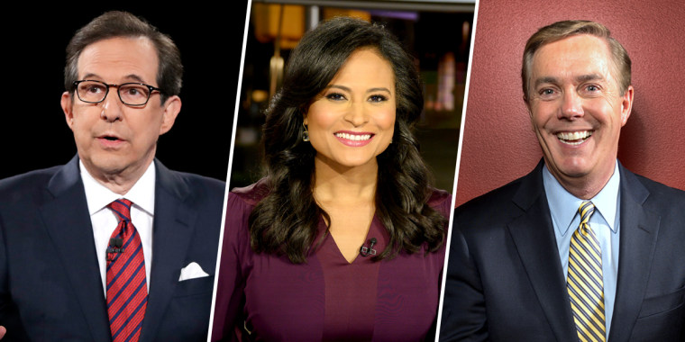 Chris Wallace from Fox News Sunday, Kristen Welker from NBC News, and Steve Scully from C-SPAN.