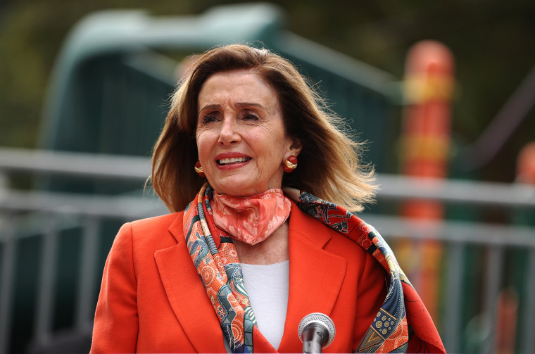 Image: House Speaker Nancy Pelosi Draws Criticism For Patronizing A Closed Hair Salon