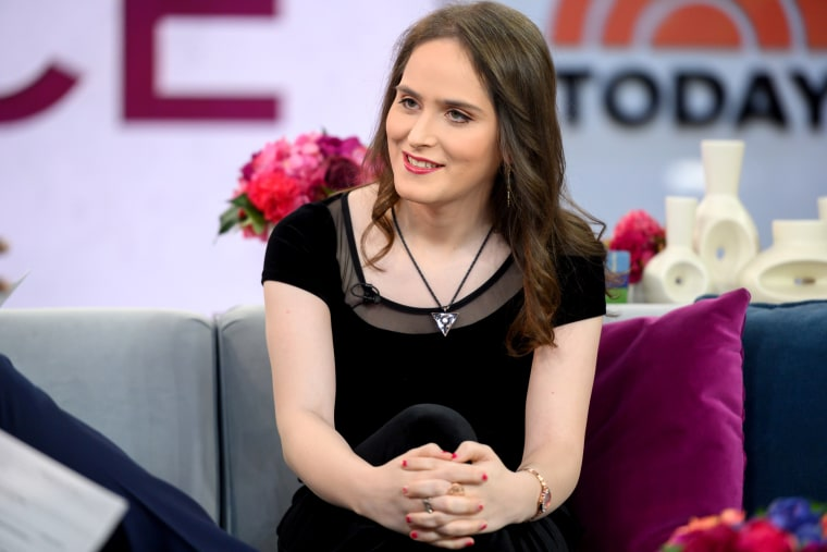 Image: Abby Stein appears on NBC's TODAY show on Nov. 19, 2019.