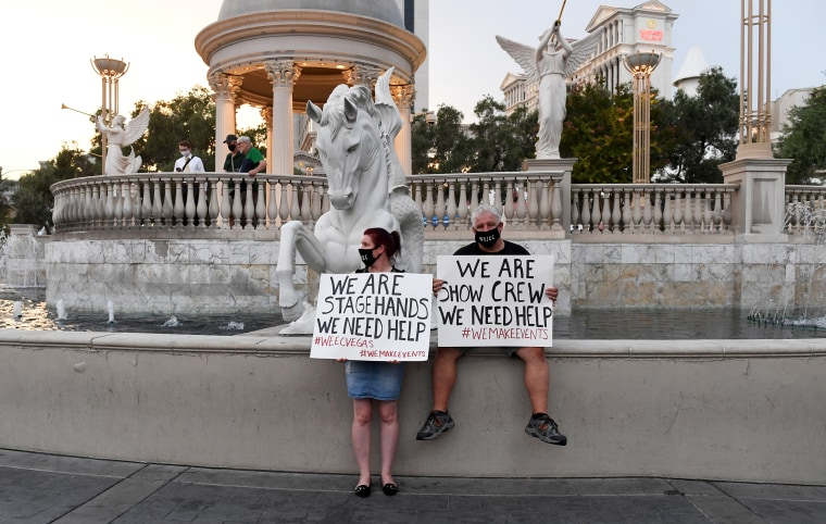 Image: Unemployed workers Las Vegas