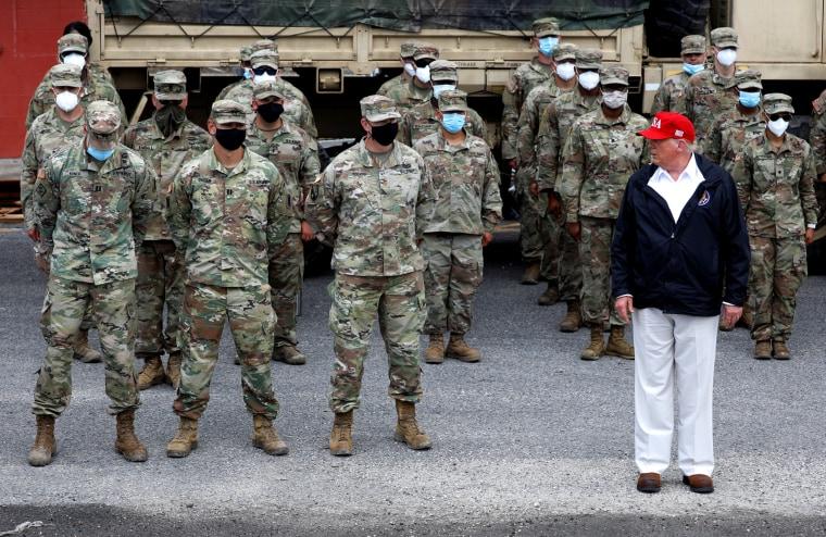 Image: U.S. President Donald Trump visits areas damaged by Hurricane Laura in Lake Charles, Louisiana and Orange, Texas