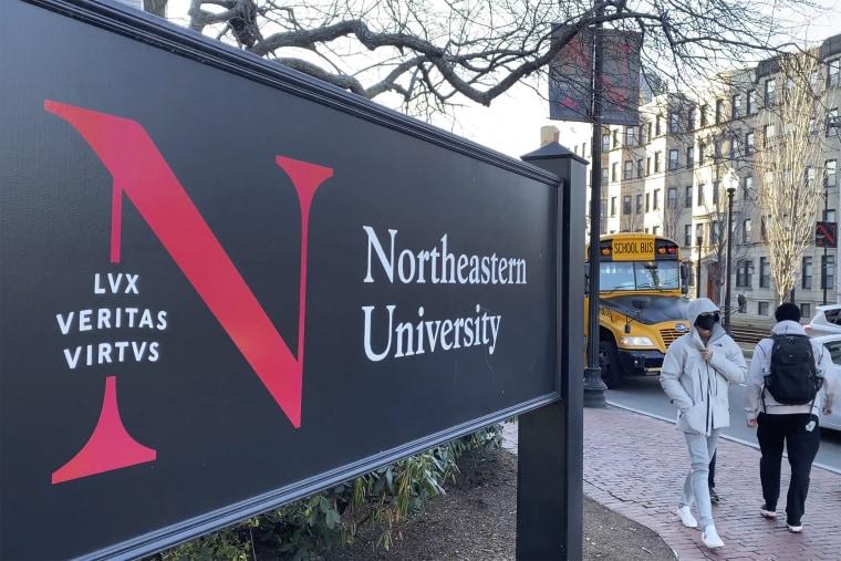 Image:  Northeastern University campus