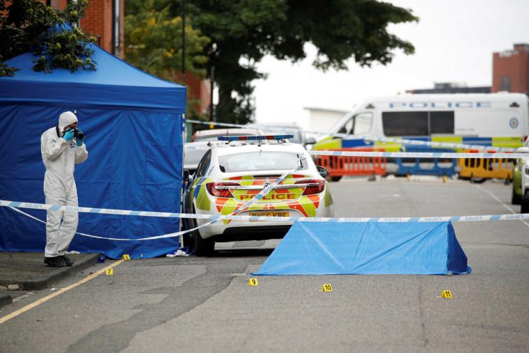 Image: Scene of reported stabbings in Birmingham
