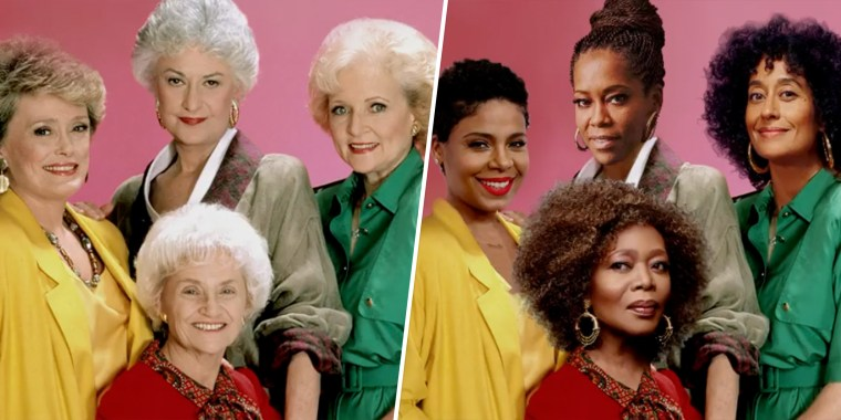 "Tracee Ellis Ross, Sanaa Lathan, Alfre Woodard and Regina King joined forces for a re-imagining of ""The Golden Girls."""