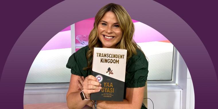 Jenna Bush Hager holding September 2020 book pick Transcendent Kingdom