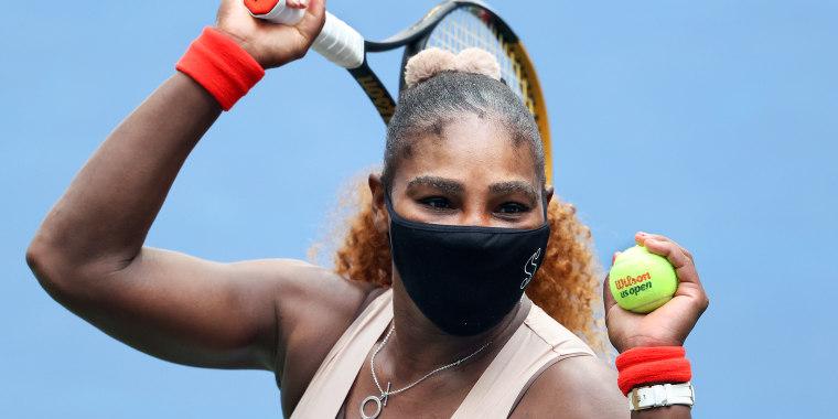 Serena Williams wearing eyeliner at US Open 2020